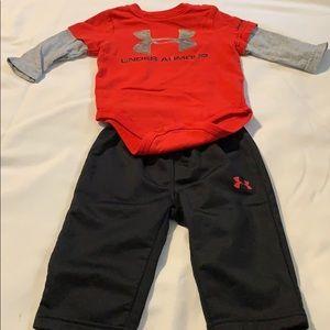 UNDER ARMOUR BABY BOYS LONG SLV SHIRT & PANT SET